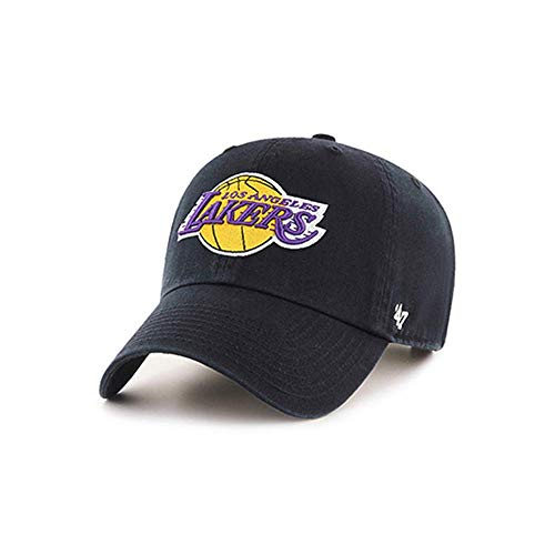 (47 Brand Los Angeles Lakers Clean Up Slouch Fit Adjustable Hat (Black))