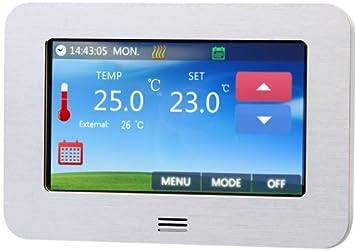 BodenWarme iSTAT - Termostato (funciona con cualquier sistema de calefacción geotérmica, pantalla táctil LCD