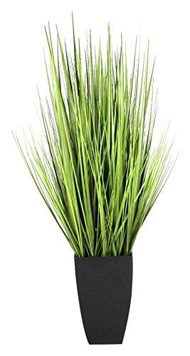 GreenBrokers Artificial Decorative Grass Plant in Black Planter (90cm)