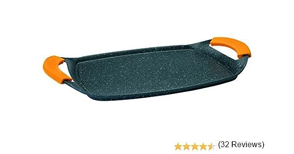 Ibili 409523 - Grill Plancha Basic Stone, negro, 36 x 22 x 3 cm: Amazon.es: Hogar