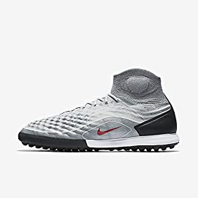 Nike Men's MagistaX Proximo II DF TF Turf Soccer Shoes (Cool Grey)