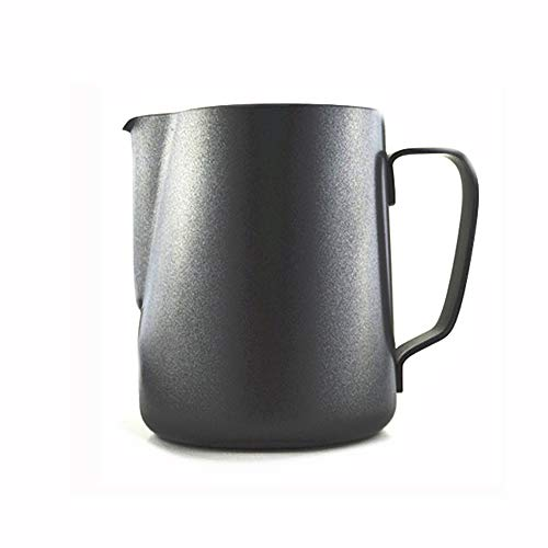 R.G Accessories Non-Stick Telfon CoatingStainless Steel Milk Steaming & Frothing Pitcher in Black Colour (600ml)