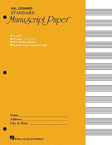 Standard Manuscript Paper ( Yellow -