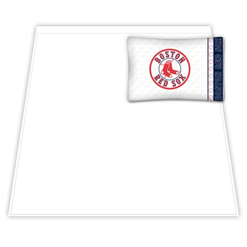 MLB Micro Fiber Sheet Set - Twin (Boston Red Sox) Red Sox Cubs