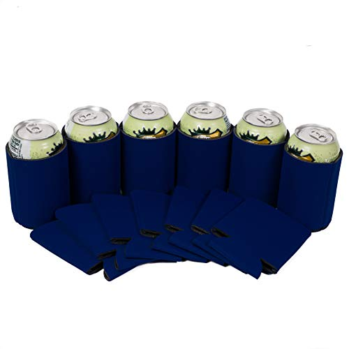 QualityPerfection 25 Navy Blue Party Beer Blank Can Coolers