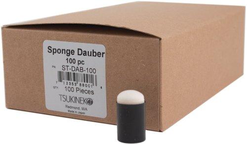 Tsukineko STDAB100 Sponge Daubers - Pack of 100 by Tsukineco