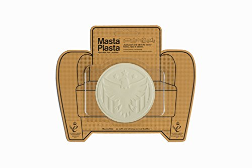 MastaPlasta Self-Adhesive Patch for Leather and Vinyl Repair, Eagle, Ivory - 3 Inch Diameter - Multiple Colors Available