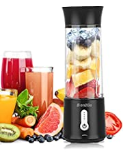 Blen2Go New Aqua 500ML Portable Blender,Cordless Personal Blender for Shakes and Smoothies, USB Rechargeable Mini Juicer Fruit Juice Cup Mixer, Waterproof Smoothie Blender Maker for Home, Travel, Office
