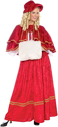 Christmas Carol Costumes (Forum Novelties Women's Christmas Caroler Costume, Red, One)