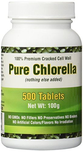 Premium Chlorella 500 Tablets With Cgf Chlorella Growth
