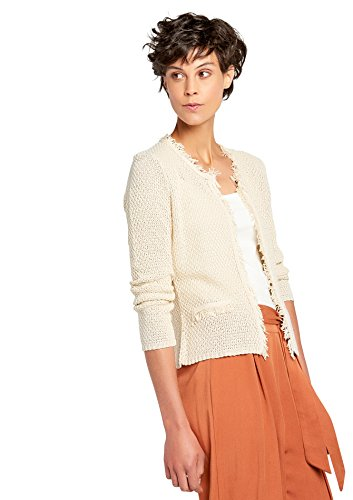 Franges Tailles Beige avec XL XS LOLALIZA Cardigan zwq47BF