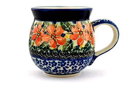 ポーランド食器バブルマグカップ12 ozピーチ夢Unikat Made by Ceramika Artystyczna B00B85QW58