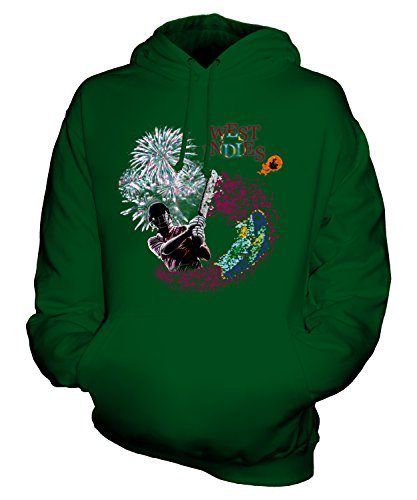 CandyMix Unisex West Indies Cricketer Mens/Womens Hoodie, Size X-Large, Color Bottle Green
