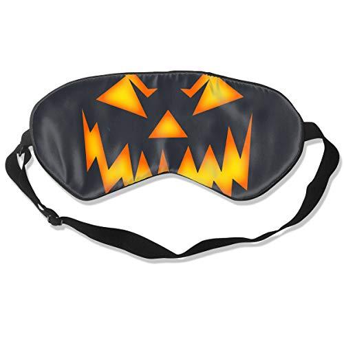 AP.Roon Men Women Halloween Scary Pumpkin Face Silk Sleep Eye Mask Adjustable Eye Cover Eyeshade Light Blocking for Travel Sleeping Shift Work]()