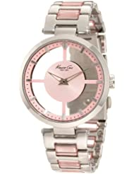 Kenneth Cole New York Womens KC4814 Transparency Pink Dial Transparency Pink Link Watch