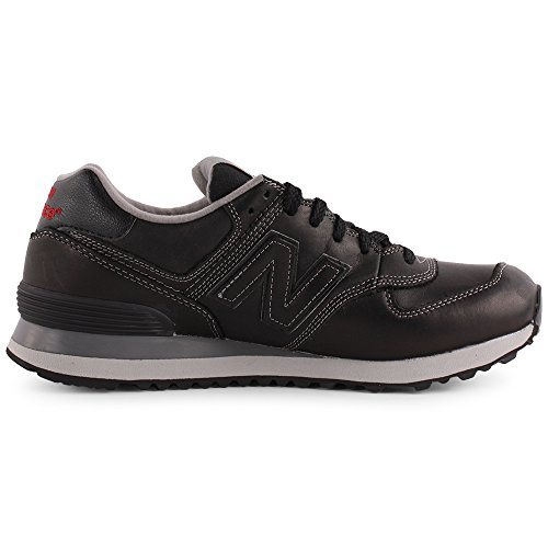 New Balance U 574 Womens Leather Trainers Black - 38 EU