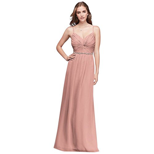 Dress Beaded Belt Extra Length Style Chiffon Ballet 4XLW11147 Crinkle Bridesmaid wxIqXC