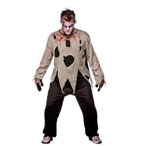 Halloween Zombie Priest Mens Fancy Dress Costume