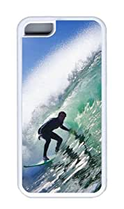 Customized Case Surf 01 TPU White for Apple iPhone 5C by icecream design