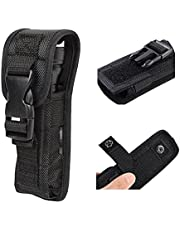 Pack of 2 Holsters Flashlight Buckle Pouch Holster Stretch Nylon Handheld LED Flashlight Belt Carry Case Duty Holder
