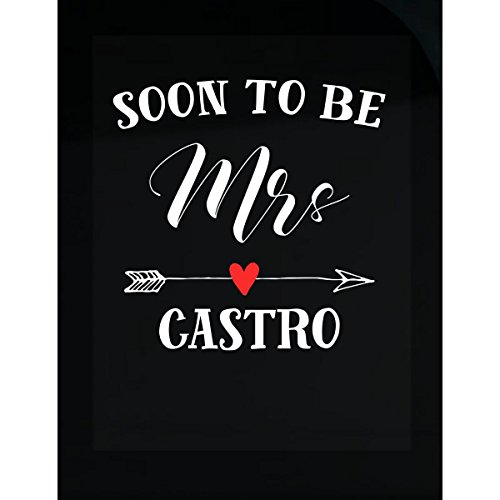 Soon To Be Mrs Castro Womens Bridal Wedding Gift - - Women Castro
