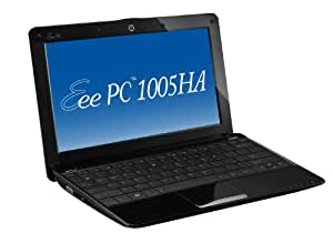 ASUS Eee PC 1005HA-PU1X-BK 10.1-Inch Black Netbook - 10.5 Hour Battery Life
