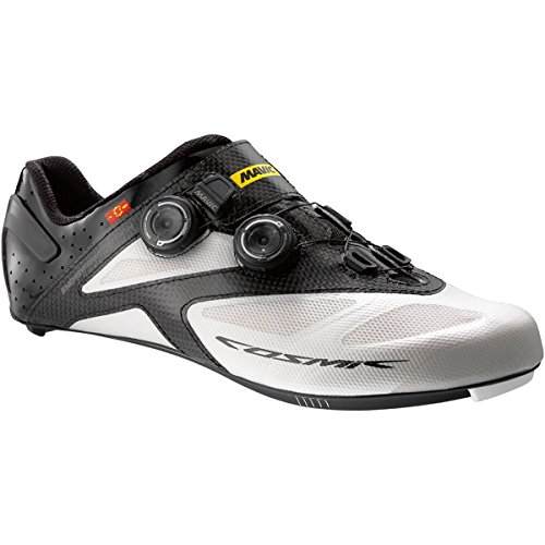 Mavic Cosmic Ultimate II Shoe - Men's White/Black, US 8.0/UK (Mavic Cosmic Carbone Ultimate)
