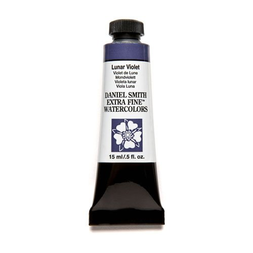 DANIEL SMITH Extra Fine Watercolor 15ml Paint Tube, Lunar Violet (Violet 15 Ml Tube)