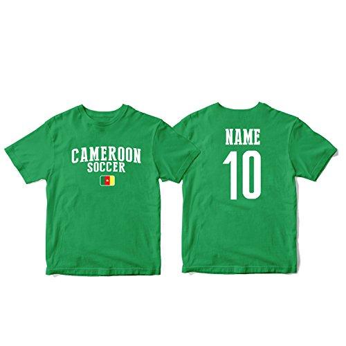 (nobrand Cameroon Men's Flag National Pride Man Soccer Team T-Shirt Soccer Jersey (Men Green L))