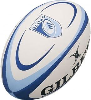 Gilbert Cardiff Blues - Ballon de Rugby Réplique - Blanc/Bleu
