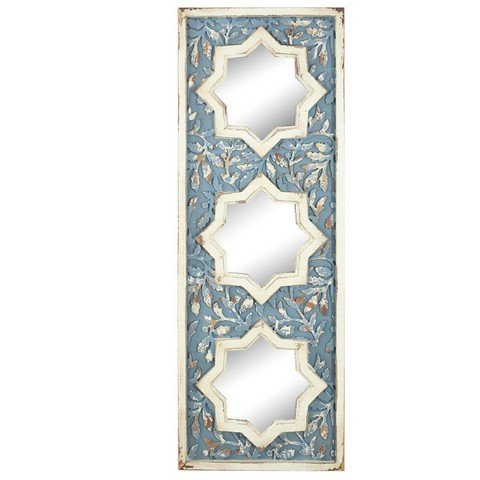 - A&B Home KIH40114 Kathy Ireland Exotic Melodies Wood Wall Mirror, 15.5 x 2 x 42.5-Inch