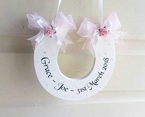 d4103397058 Handmade Personalised Wedding Horseshoe Keepsake Gift: Amazon.co.uk:  Handmade