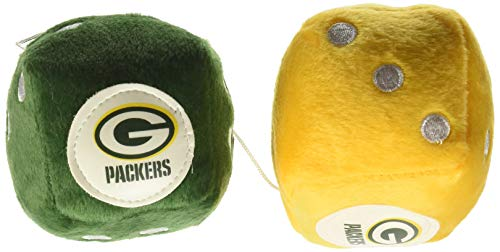 NFL Green Bay Packers Fuzzy Dice