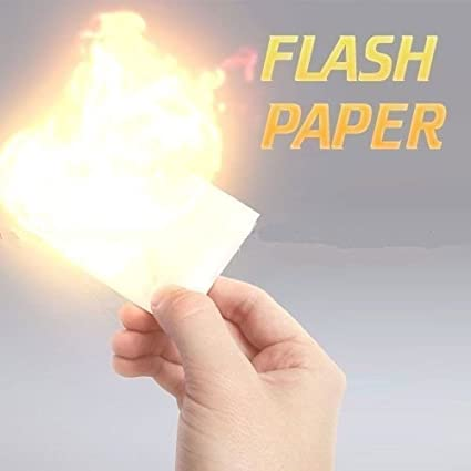 MilesMagic Magic Flash Paper 5 Sheets Pack Nitrocellulose (25 x 20) Paper  Sheet Trick, White