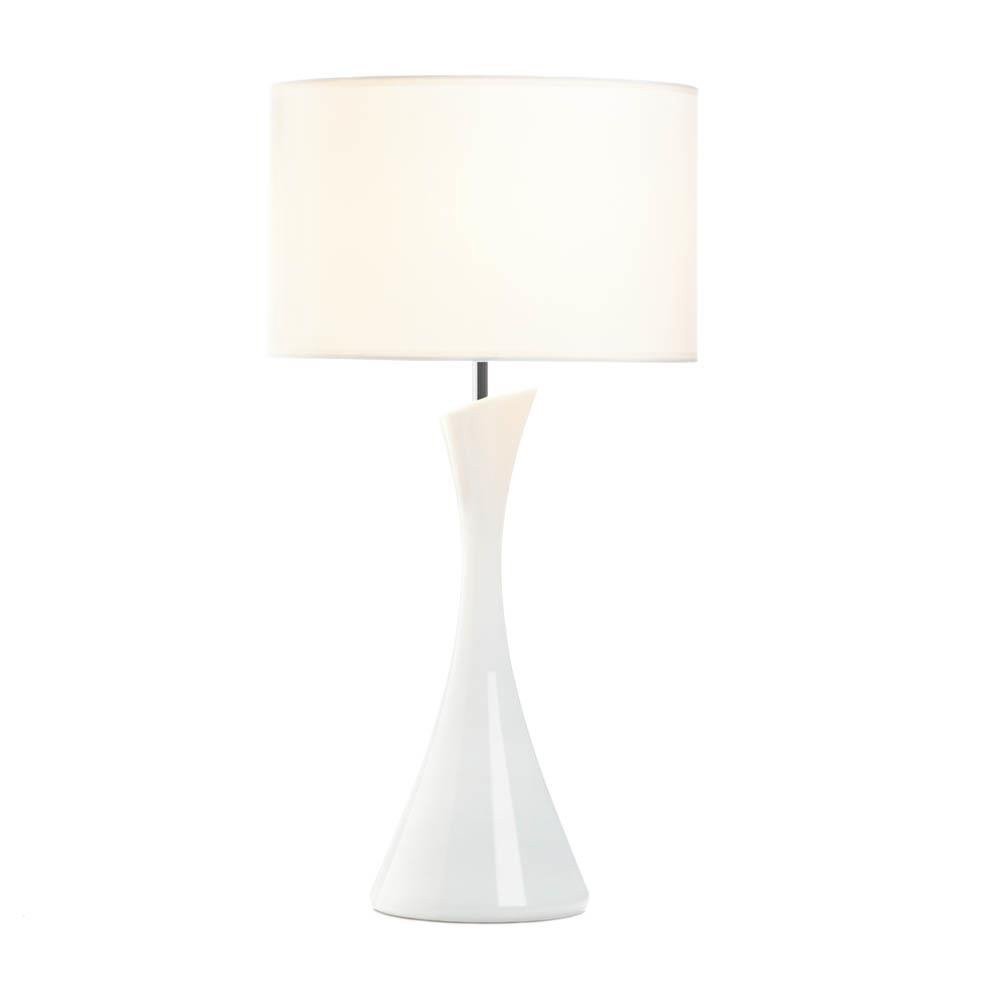 White Table Lamps, Ceramic Small Bedside Table Lamps For Bedrooms ...