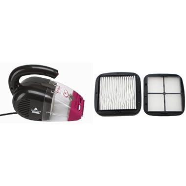 Pet Hair Eraser Hand Vac+Replacement Filter