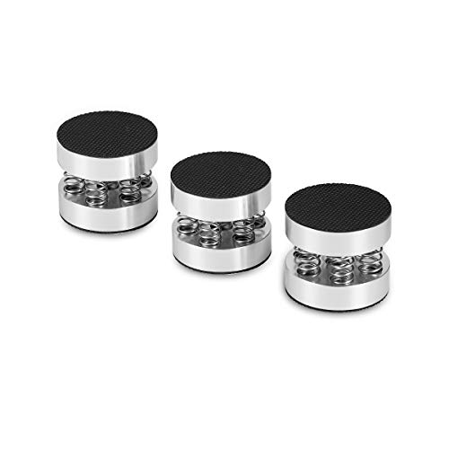 Nobsound 4PCS Silver Aluminum Spring Speakers Spikes Isolation Stand for HiFi Amplifiers by Douk Audio (Image #7)