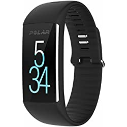 Polar A360 Fitness Activity Tracker Monitoraggio Attività Fisica con Cardiofrequenzimetro Integrato, Display Touch Screen, Taglia M (150-200 mm), Nero