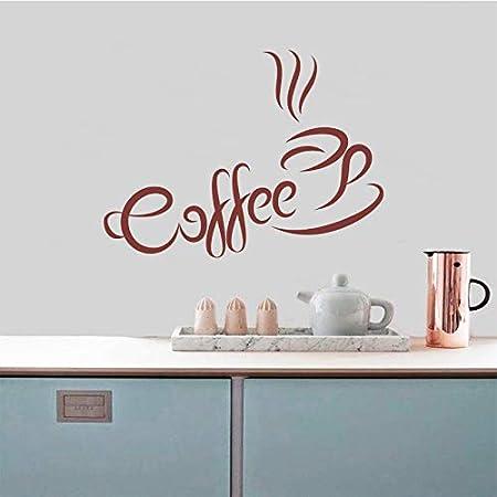 yiyiyaya Taza de café Pegatinas de Pared Cocina cafetería ...