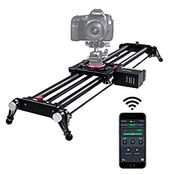 Image of Camera Sliders Camera Slider, ASHANKS Bluetooth APP Motorized Electric Tracking Track Dolly Slider Carbon Fiber Rail for DSLR Camera Time Lapse and Follow Focus Video Shot,120 Degree Panoramic Shot, 31'