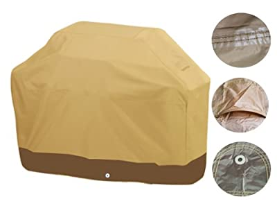 Deluxe Heavy Duty Waterproof BBQ Grill Cover Barbecue Gas Covers Protector XQPB from Brightent