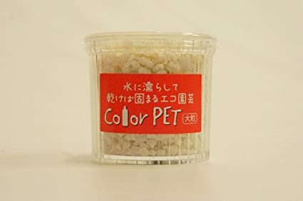 水で濡らして乾けば固まる Color PET