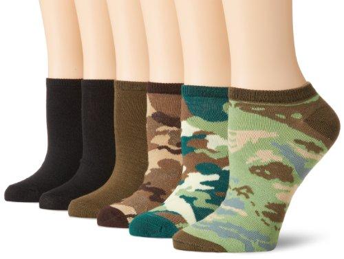 womens 6 Pack Fashion No Show Liner Socks