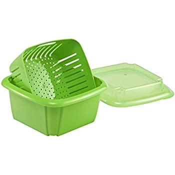 Amazon Com Hutzler 3 In 1 Berry Box Green Berry Bowl