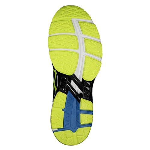 Scarpe Da Corsa Asics Gt-1000 5 Nere (nero / Giallo Sicurezza / Blu Gioiello 9007)
