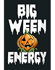 Womens Big Ween Energy Funny Horror Scary Gift V Neck: Notebook Planner - 6x9 inch Daily Planner Journal, To Do List Notebook, Daily Organizer, 114 Pages