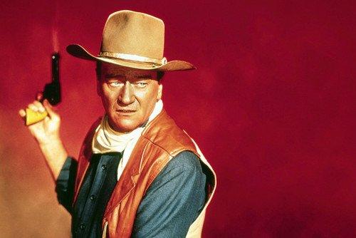 John Wayne Classic Portrait Holding Gun Sons Of Katie Elder Poster