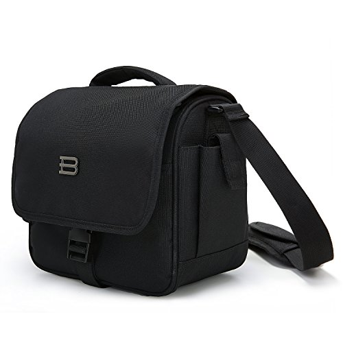 BAGSMART Digital SLR/DSLR Compact Camera Shoulder Bag, Travel SLR Gadget Bag, Black