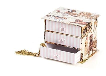 Cassettiere Di Cartone.Cassettiera In Cartone Con 3 Cassetti Romantic Dogs Idee