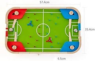 Máquina de Pinball de Mesa para niños de fútbol de Mesa, Juego de Pelota de Juguete de Juguete Manual de Doble Juego de Mesa interactiva Haruko (Color : Green, Size : 57.4 *